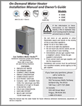 Signature Premier Tankless Non-Condensing Concentric Vent Ultra-Low NOx 110C, 310C, 510C Gas 1W5101 Owners Manual