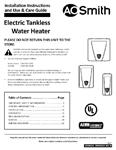 Tankless Electric 2-4 Chamber 100306524 Owners Manual