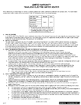 Tankless Electric Point-of-Use Warranty Sheet