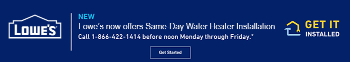 Lowes Water Heater Same Day Installation Program